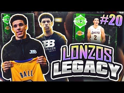 LONZOS LEGACY #20 - DIAMOND PLAYER PULL!! NBA 2K18 MYTEAM!