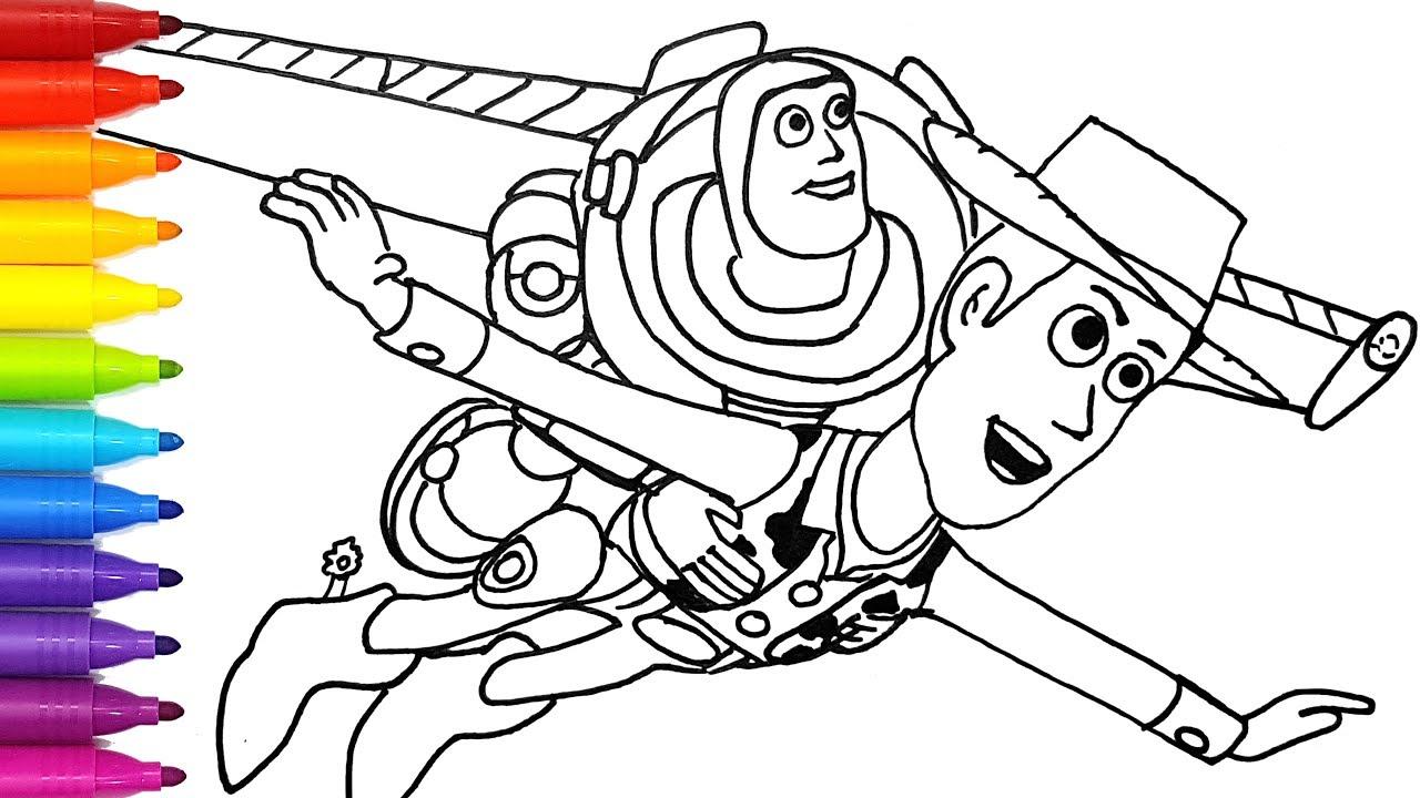 TOY STORY 4 Buzz Lightyear flies with Sheriff Woody ...