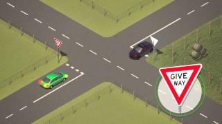 Giving way at intersections - Punjabi