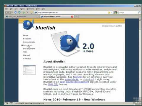 Lecture 8  Setting Up A PHP Editor - Bluefish