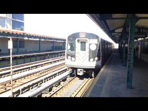 BMT Astoria Line: Manhattan & Ditmars Boulevard Bound R160 & R68A (N) (W) Trains @ 39th Avenue