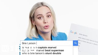 Brie Larson Answers the Web\'s Most Searched Questions | WIRED