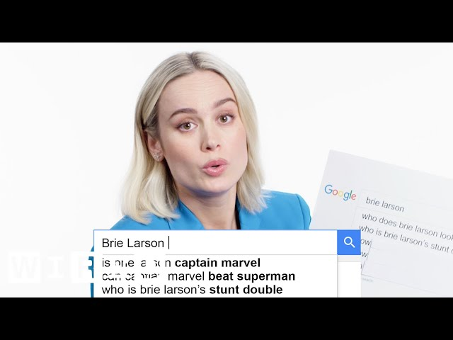 Brie Larson Answers the Webs Most Searched Questions | WIRED