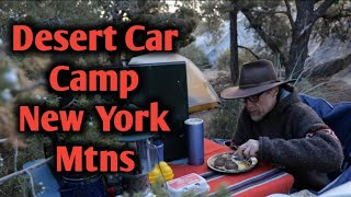 Mojave National preserve | Cąr camping in the New York Mountains