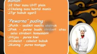 Resep Cara Membuat Colourful Silky Milky Pudding