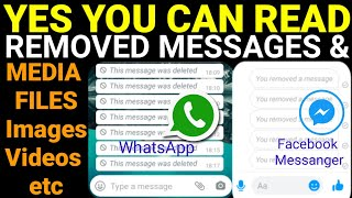 How to read Facebook Messanger removed Messages | How to read WhatsApp Deleted Messages screenshot 5