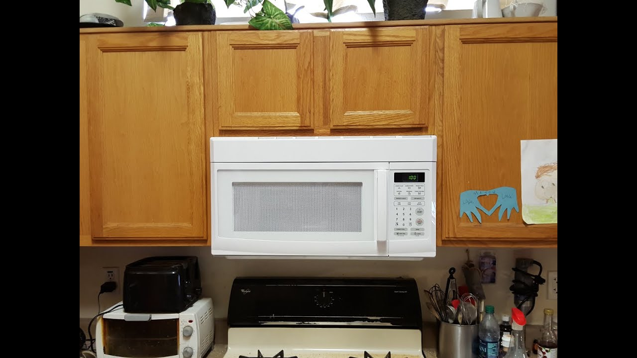 Over Range Microwave Install You