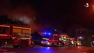 Jeumont : l'école Sainte-Bernadette a pris feu, les images de cette nuit