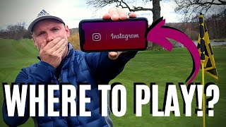 WE LET INSTAGRAM DECIDE WHERE WE PLAYED GOLF!