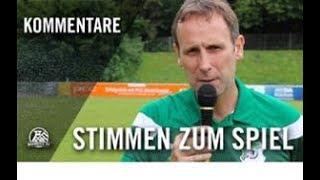 Stimmen zum Spiel | VfB Homberg - SpVg. Schonnebeck (33. Spieltag, Oberliga Niederrhein)