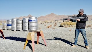 How many beer kegs does it take to stop a 50cal bullet?