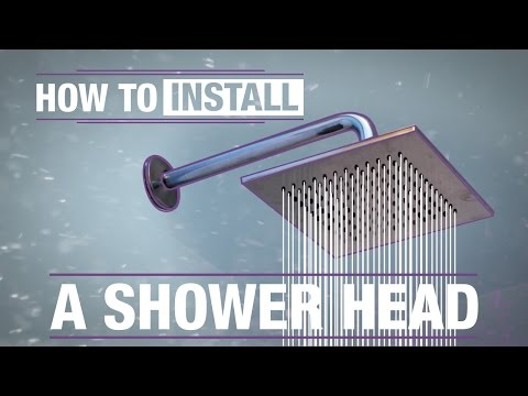 grohe shower head installation instructions