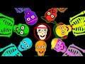 Funny Skeletons Head Shoulders Knees & Toes | Nursery Rhymes and Baby Songs