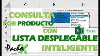Consulta de inventario por producto con lista desplegable inteligente