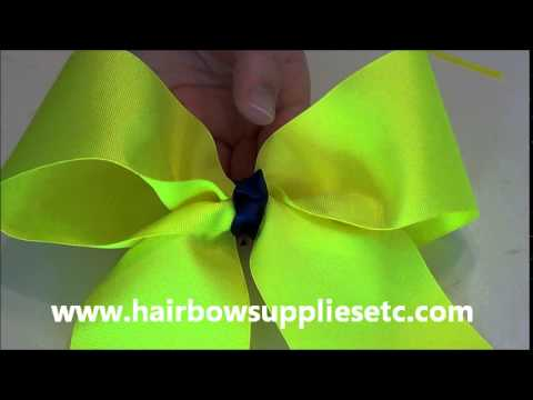 Episode 146: Softball Bow Using Hairbow Supplies Etc Tutorial