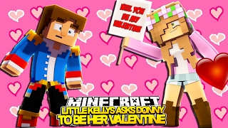 asking little donny to be my valentine minecraft little kelly custom roleplay