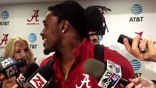 Bo Scarbrough talks following Alabama's win over Tennessee