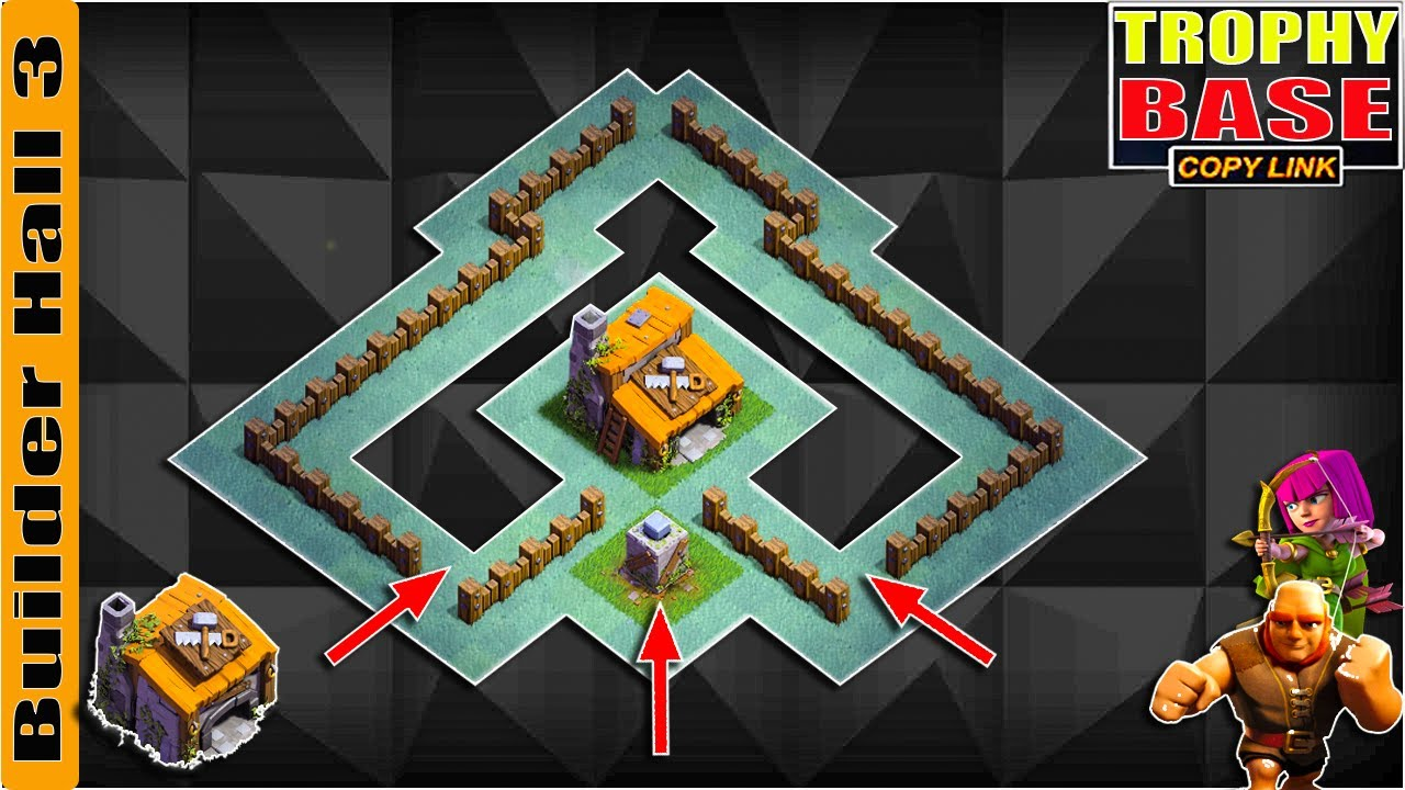 New BEST BH3 ANTI GIANT TROPHY[defense] Base 2021 Builder Hall 3 Trophy Base Design - Clash of Clans