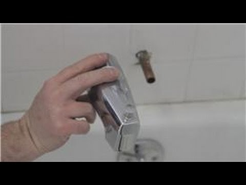 Faucet Repair : How to Fix a Bathtub Faucet That Sprays Out When the ...