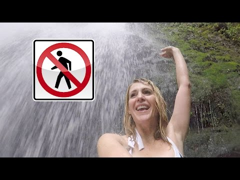 SCARY HIKE TO FORBIDDEN WATERFALL