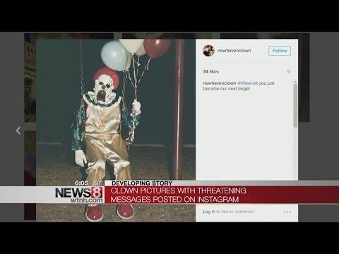 Disturbing clown account threatens New Haven schools on Instagram