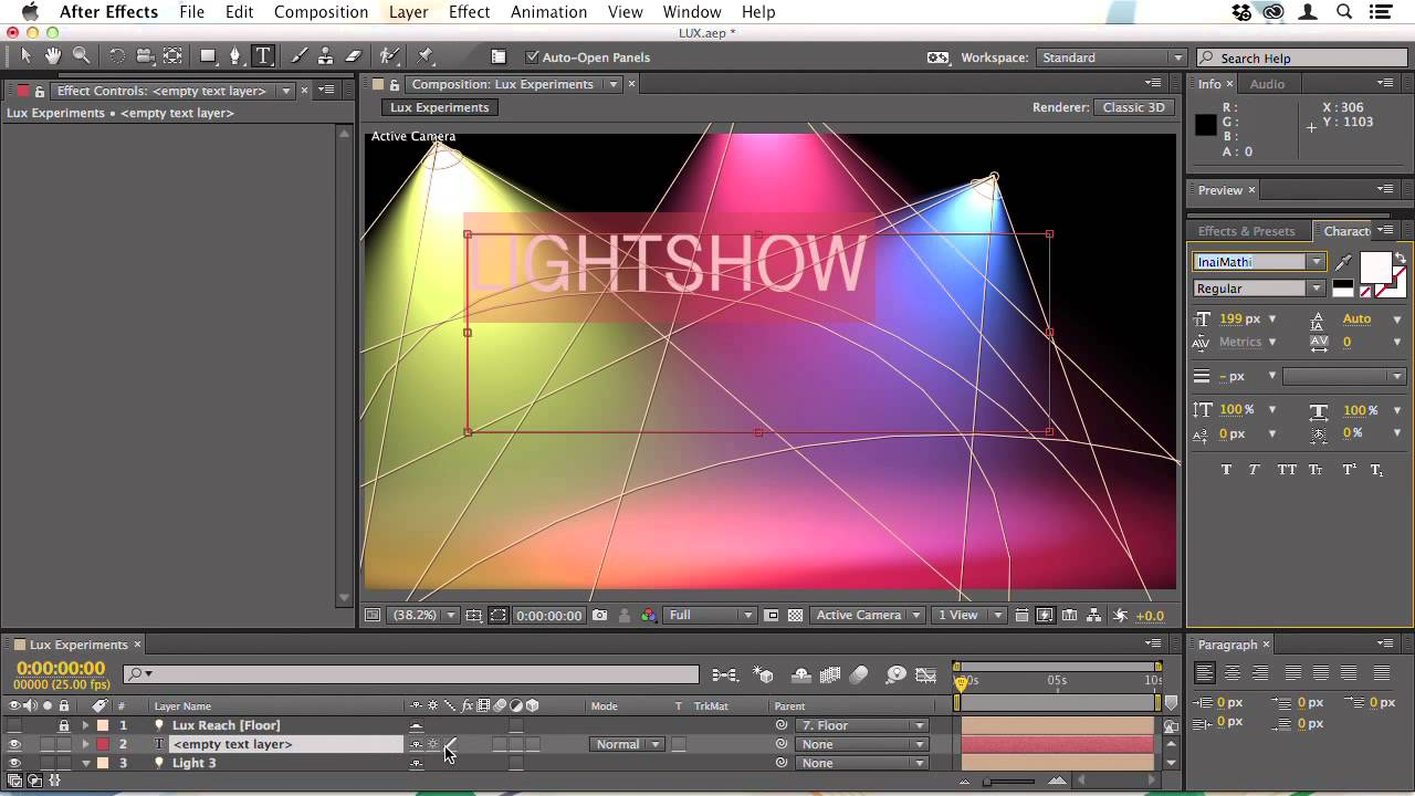 Stage lighting in after effects cs4 youtube -  Tutorial After Effects Trapcode In Action 3 1 Creating Light With Lux Youtube