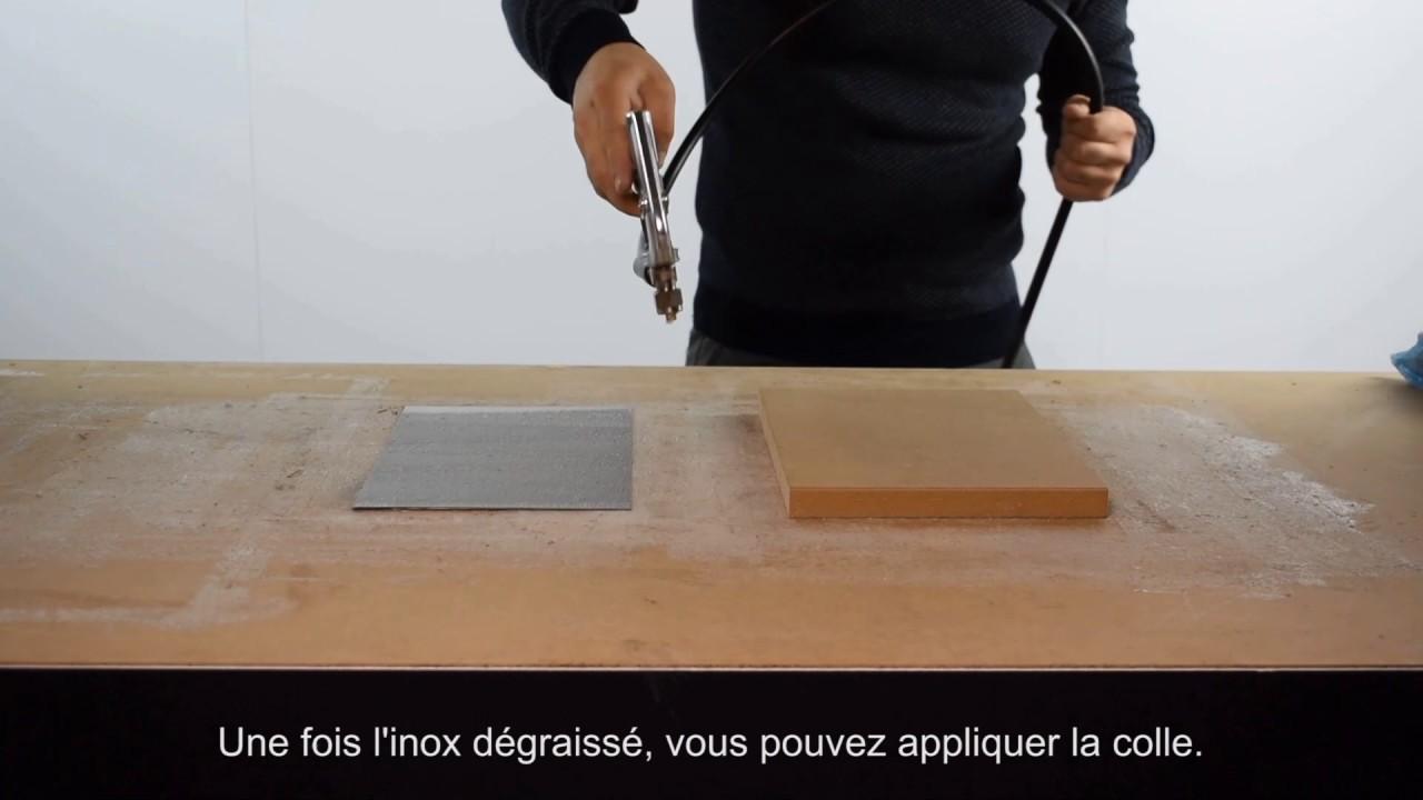 Feuille D Inox À Coller stratogrip s110 - collage d'inox sur du médium