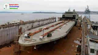 Launching Ship  - The Whole Process of Building and Launching a Giant Ship Times Lapse Video