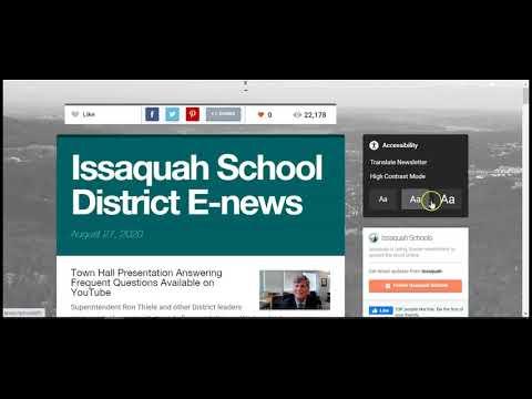 Preview image for Acceso a información en su idioma preferido Distrito escolar de Issaquah
