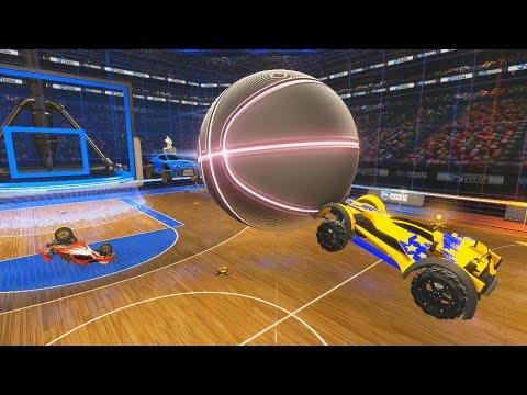 BUZZER BEATER AERIAL SHOT?! - Rocket League Hoops