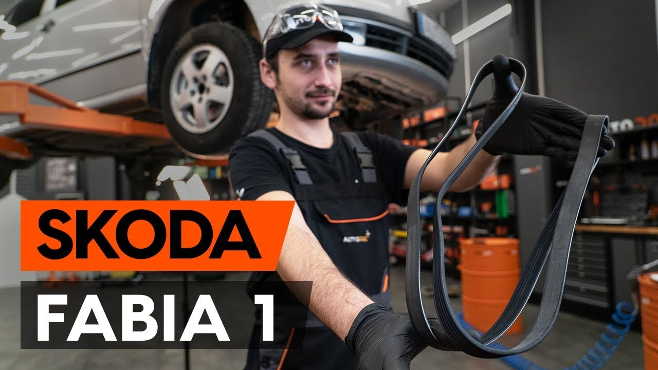 How To Change Serpentine Belt V Ribbed Belt On Skoda Fabia 1 6y5 Tutorial Autodoc Youtube