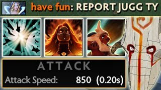 Reported: 5 HITS per SECOND [Crazy Attack Speed] Battle Trance + Fiery Soul | Dota 2 Ability Draft