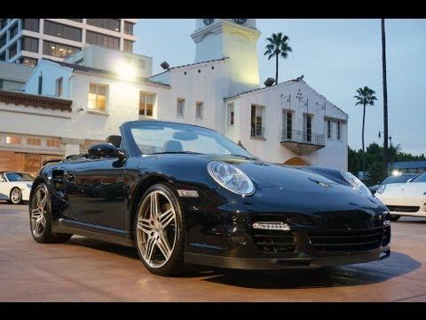2008 Porsche 911 Turbo Cabriolet Triple Black 997 In Beverly Hills