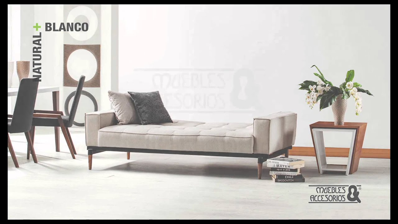 sofa cama natural m s blanco muebles y accesorios youtube