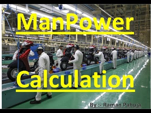 Manpower Calculation   Manpower Calculation by Takt time