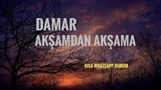 Duygusal Whatsapp durum videosu Damar serisi  Akşamdan Akşama 30 saniye Durum videosu