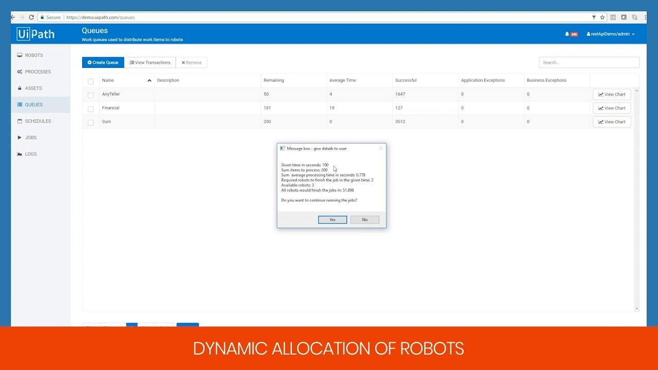 UiPath Demo - Dynamic Allocation of Robots