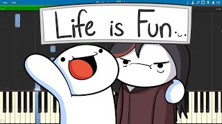 Life Is Fun - Piano Cover / Tutorial - The Odd1sOut ft. Boyinaband