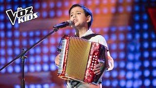 Juanjo canta Relicario de besos - Audiciones a ciegas | La Voz Kids Colombia 2018