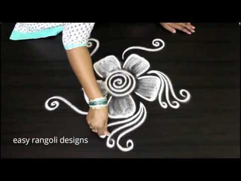 Two small n simple  kolam ||  beginners  rangoli designs  || easy muggulu #1