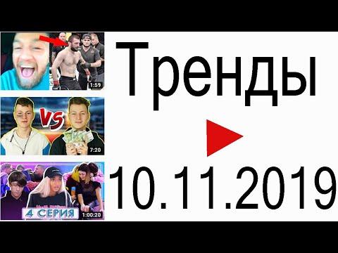 Тренды ютуба 10.11.2019 | Andrey Antonov MMA, Mak, Mary Senn