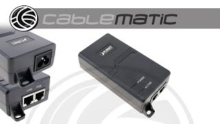 Ultra Power over PoE inyector IEEE802.3af/at 10/100/1000Mbps 50VDC distribuido por CABLEMATIC ®