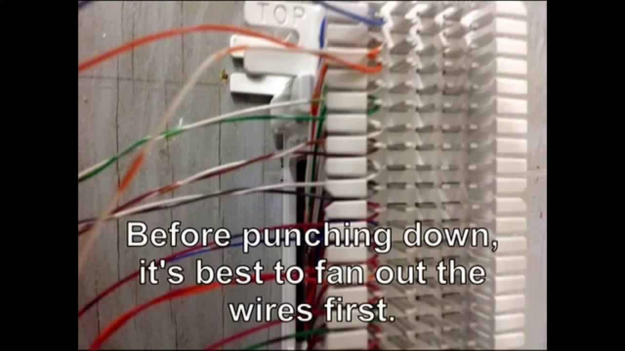 Connect 25 pair Cable on 66 block. - YouTube