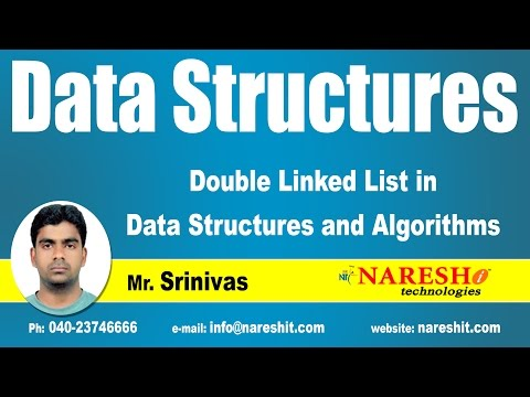 Double Linked List in Data Structures and Algorithms | Part-1 | by Mr. Srinivas