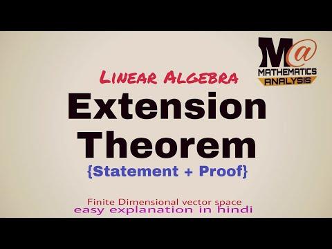 EXTENSION THEOREM OF BASIS | LINEAR ALGEBRA 🔥