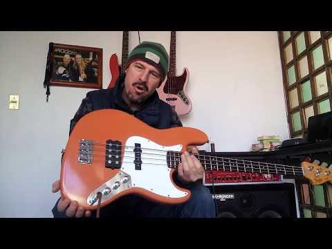 Squier jazz bass standard musicman pickup stringthru FENDERMAN 3