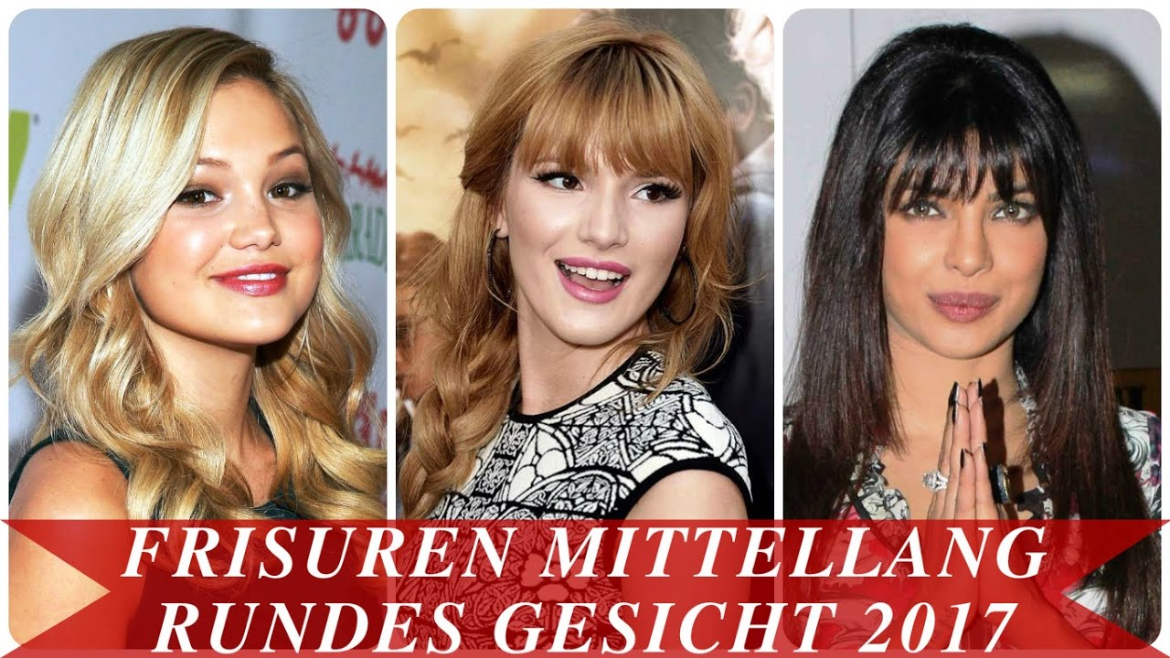 frisuren mittellang rundes gesicht 2017 youtube