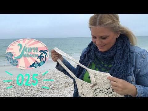 Yarn on the Beach 025 Knitting and Tunisian Crochet Swatches