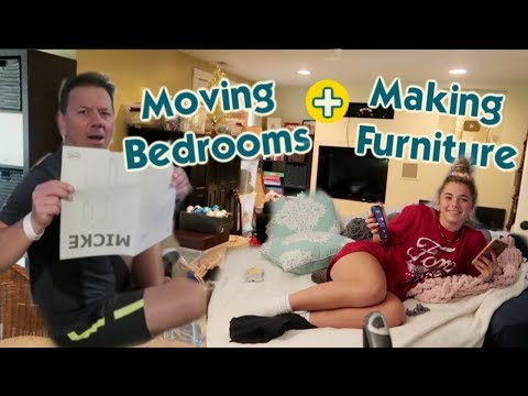It's Moving The Kids' Bedrooms and Making Furniture