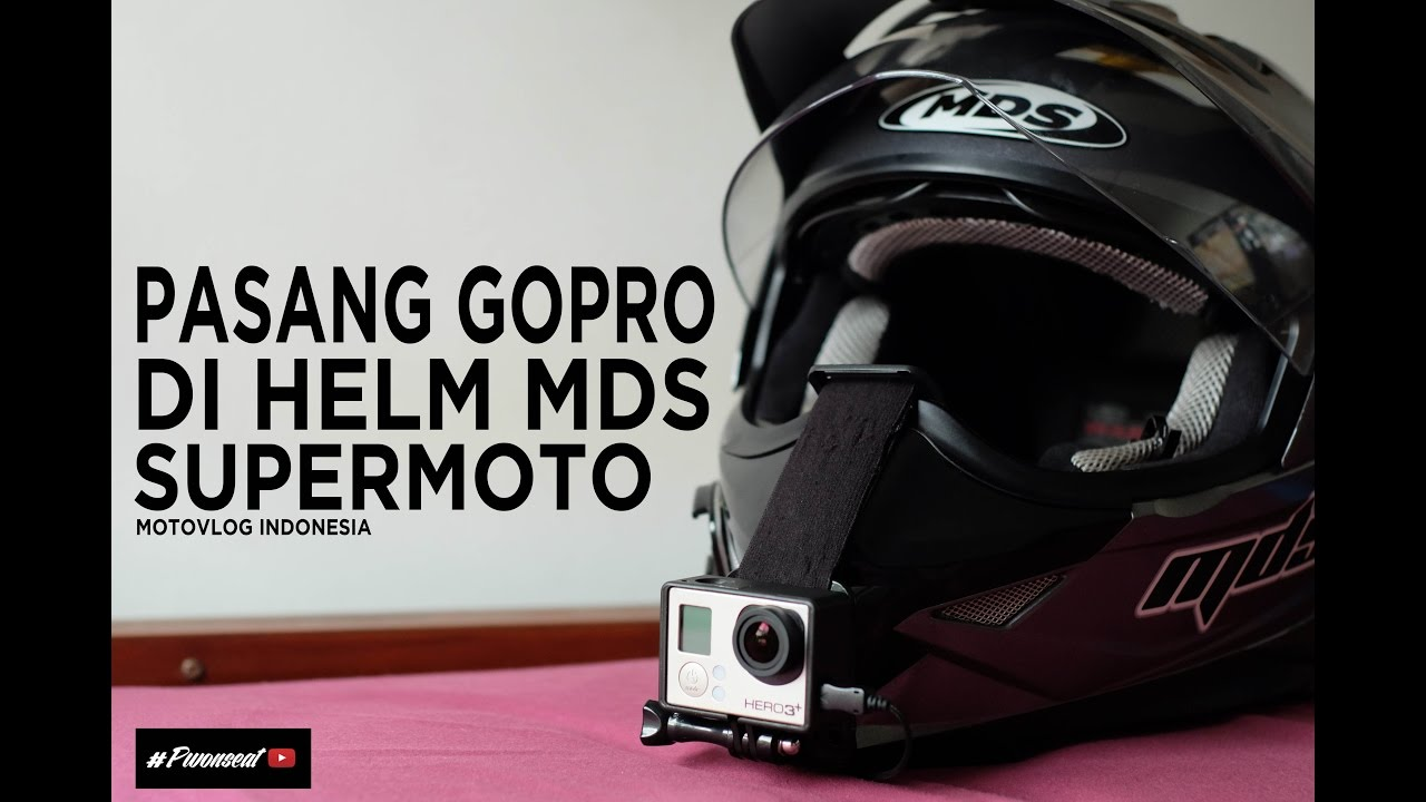 tutorial cara pasang gopro xiaomi yi di helm mds. Black Bedroom Furniture Sets. Home Design Ideas